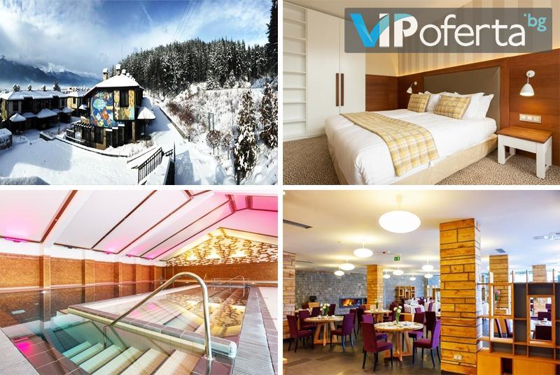 Еднодневен делничен пакет в едноспален или двуспален апартамент със закуска + СПА в комплекс Русковец Резорт, Добринище