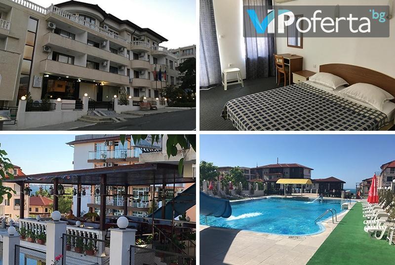 Еднодневен пакет на база All inclusive през цялото лято + ползване на басейн в хотел Корона, Свети Влас