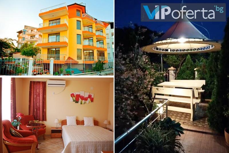 Еднодневен пакет в двойна или тройна стая или апартамент + БОНУС НОЩУВКА в Къща за гости ДОМ Петрови, Черноморец