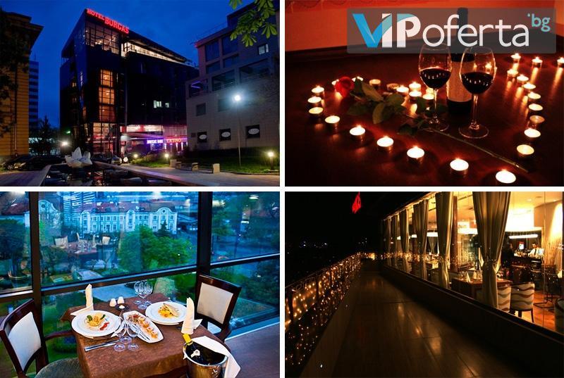 Куверт за празнична вечеря в ресторант Burgas Rooftop в Хотел Бургас****